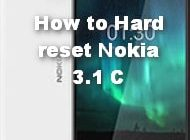 How to Hard reset Nokia 3 1 C