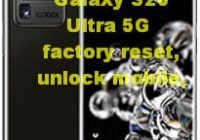 Samsung Galaxy S20 Ultra 5G factory reset